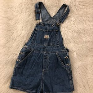 Old Navy Overalls Blue Jean Shorts Romper Size XS